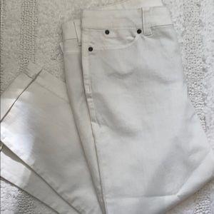 Talbots white 10P Simply flattering 5 pocket denim